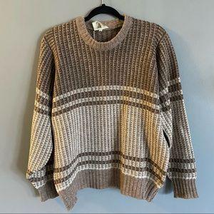 Vintage Shetland Wool Grandpa Sweater Size Large